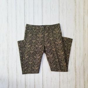 7th Avenue NY & Company Black and Gold Pant
